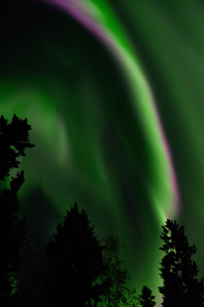 Crimson and Green - aurora over fairbanks
