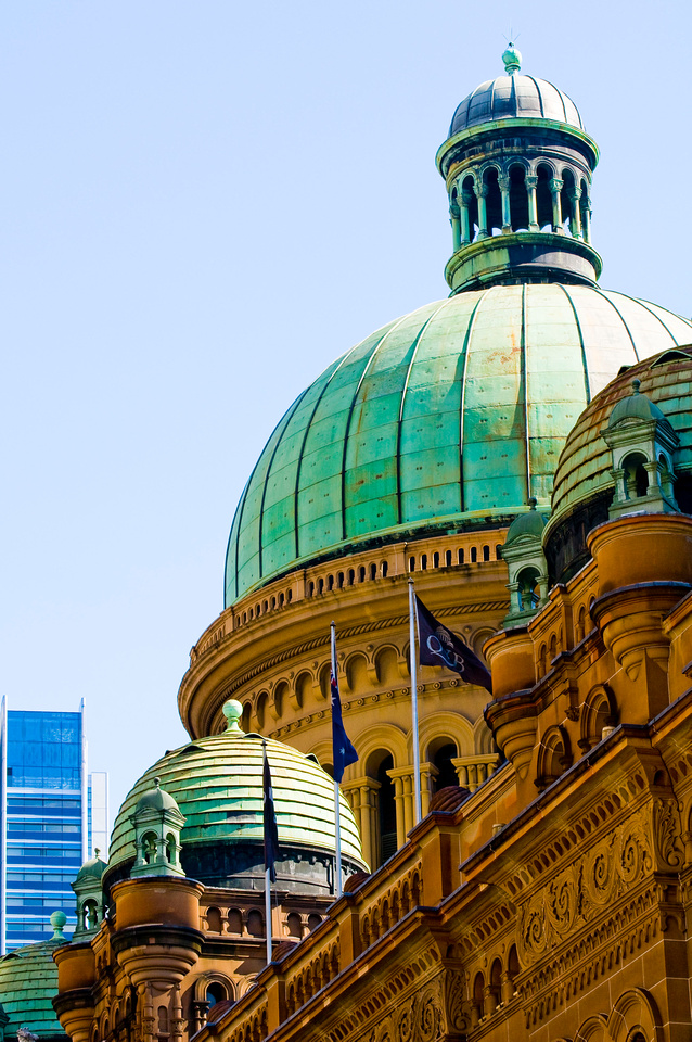 Building Images for Background:  Neoclassical and Greek Revival Architecture Stock Photos. This image shows Sydney, Australia's Queen Victoria Building, an example of Romanesque Revival Architecture.