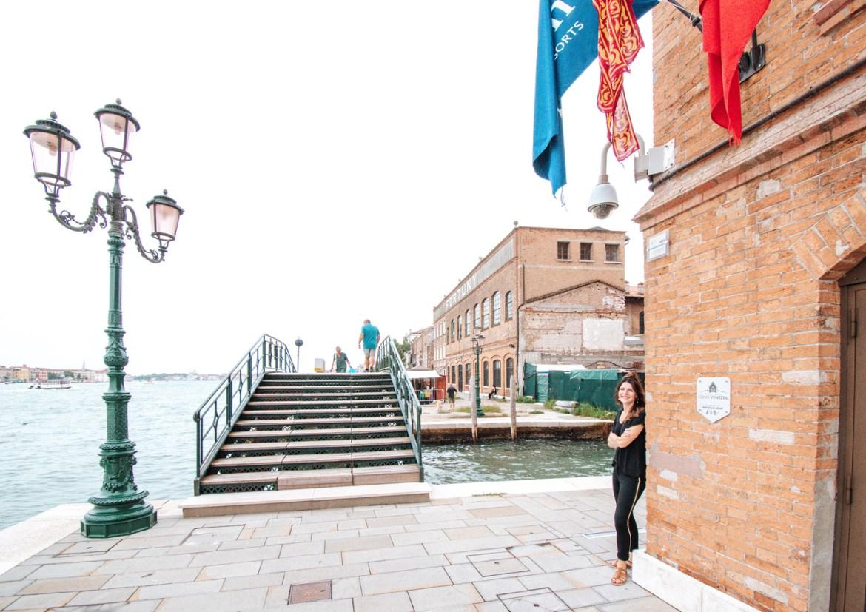 A view of the exterior of the Hilton Molino Stucky on the Island of Giudecca, Venice.