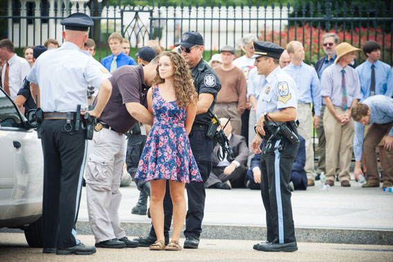 Victories won by activists around the world tops our list of the big environmental stories of the year. In this photo: a young woman is placed in handcuffs and arrested for civil disobedience against the Keystone XL Pipeline in the U.S. In all, 1,252 people were arrested in the two week long action.