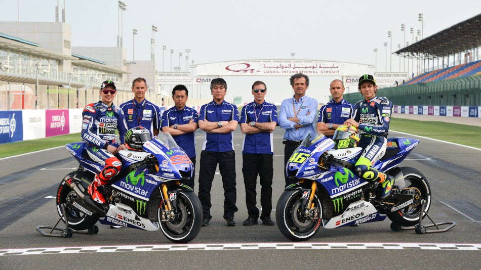 Movistar Yamaha MotoGP unveils 2014 colours