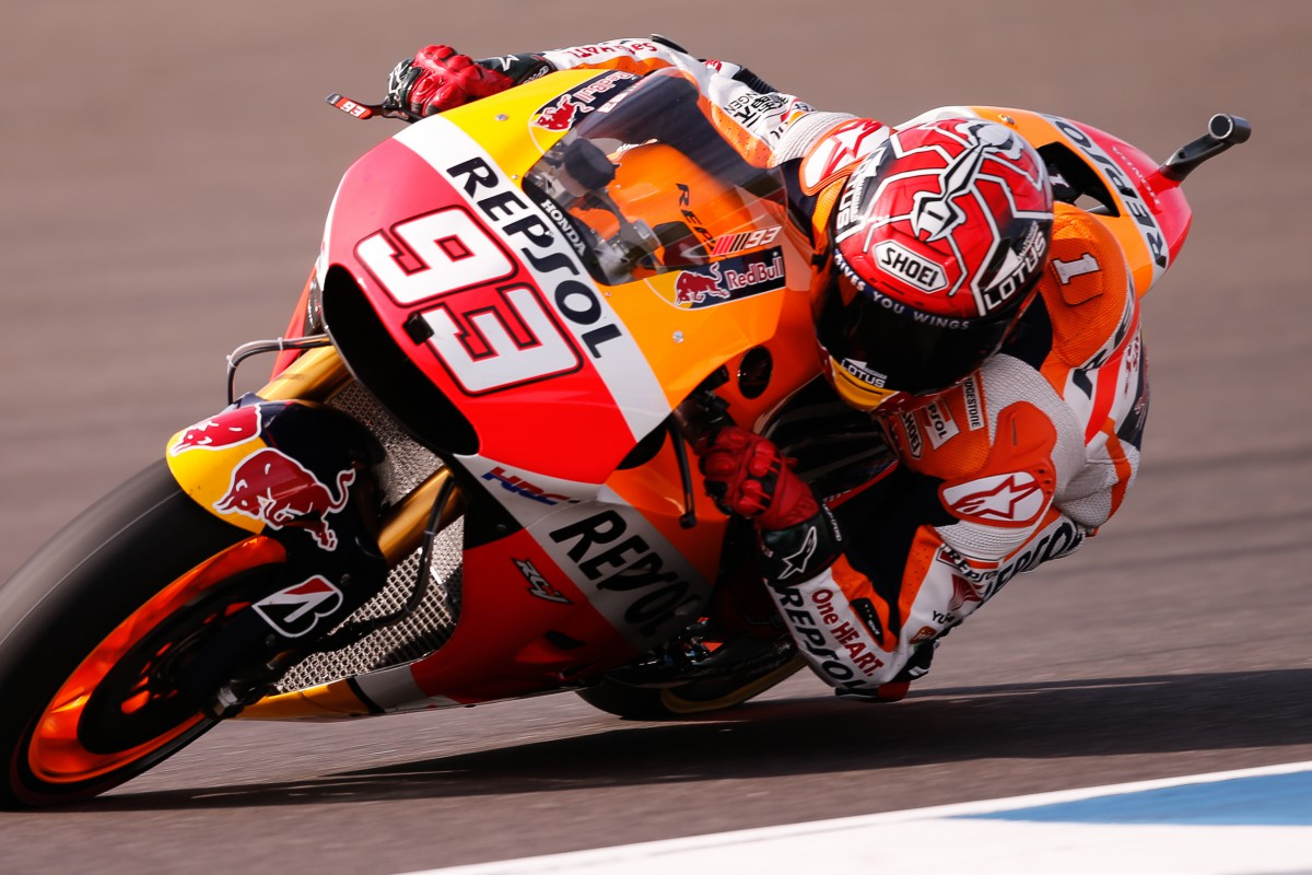 Marquez takes pole by over 05s at ArgentinaGP  MotoGP