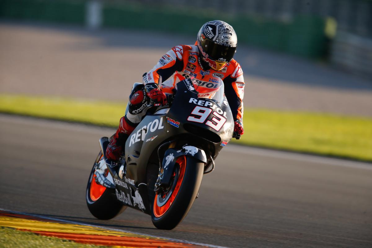 Marquez ends Valencia test on top  MotoGP