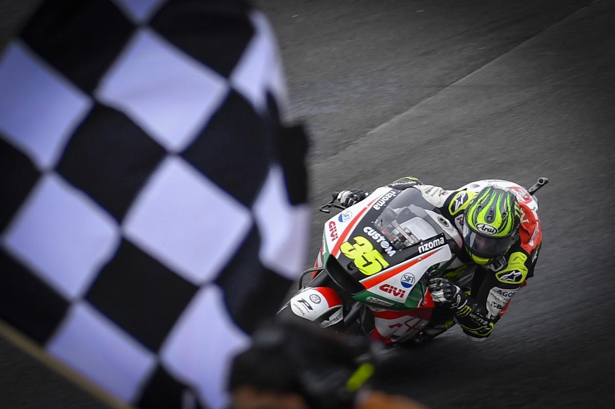 Hasil gambar untuk Crutchlow on top as the title fight explodes in Argentina