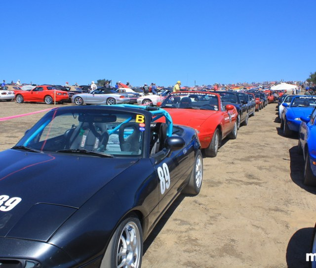 This Was The Insanely Dusty Staging Area Where All The Miatas Were Directed In For The World Record Attempt And Aerial Photo