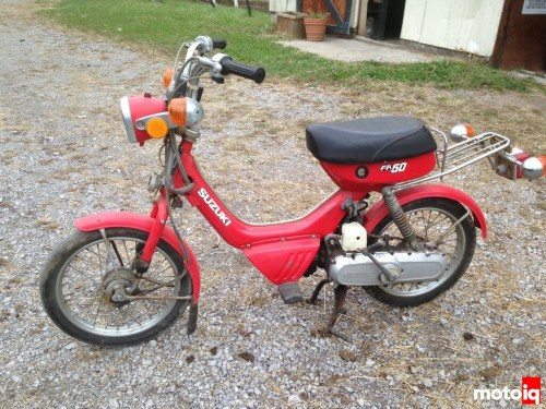 small resolution of what we picked up was a suzuki fa50 these tiny bikes were made between 1980 and 1992 powered by a not quite 2hp 49cc 2 stroke engine this is the ultimate
