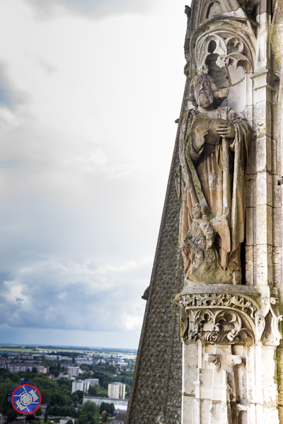 A Carved Figure on the North Spire (©simon@myeclecticimages.com)