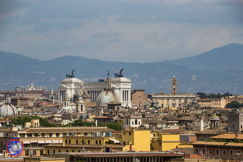 View of Rome from the Vatican Museum (©simon@myeclecticimages.com)
