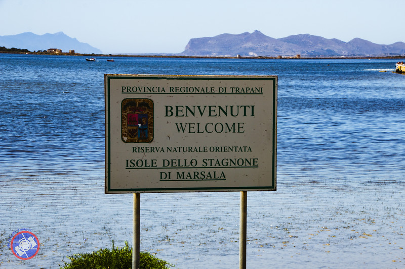 Sign at the Salt Ponds, Marsala, Sicily (©simon@myeclecticimages.com)