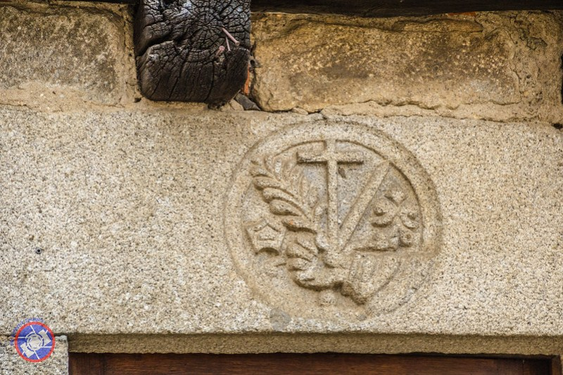 Detail of a Sign of the Spanish Inquisition Over a Doorway in La Alberca (©simon@myeclecticimages.com)
