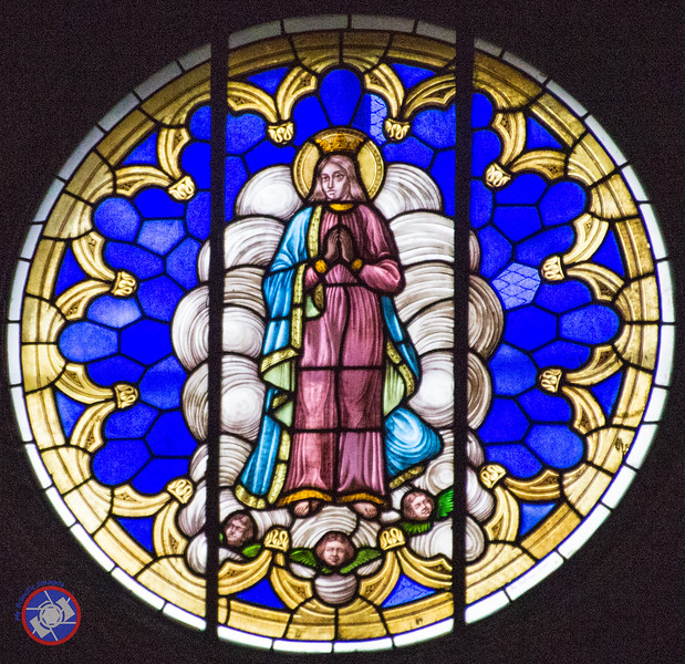 A Stained Glass Window in the Church (©simon@myeclecticimages.com)