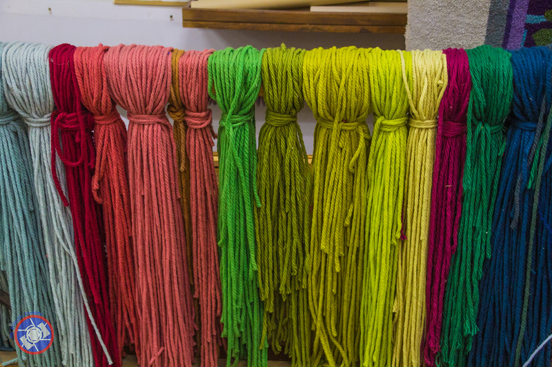 Wool Hanks Used in the Carpet Making Process (©simon@myeclecticimages.com)