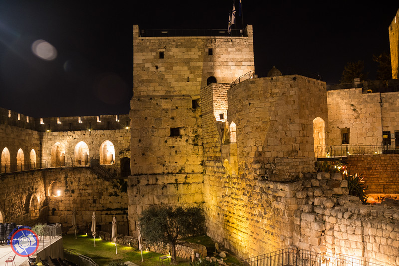 The Tower of David Before the Start of the Night Spectacular (©simon@myeclecticimages.com)
