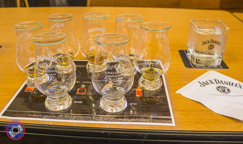 The Tasting Flight at the Jack Daniel's Distillery (©simon@myeclecticimages.com)