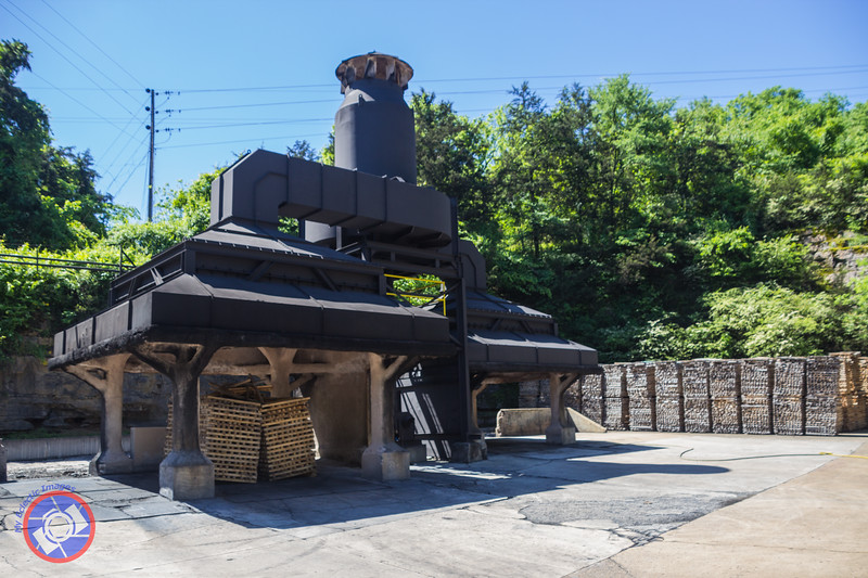 The Custom-Designed Equipment for Creating the Charcoal Needed to Create Tennessee Whiskey at the Jack Daniel