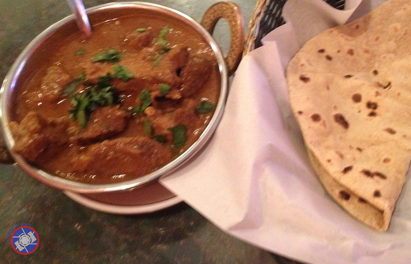 Lamb Curry with a Side Order of Chapati Served at Thanjai Restaurant (©simon@myeclecticimages.com)