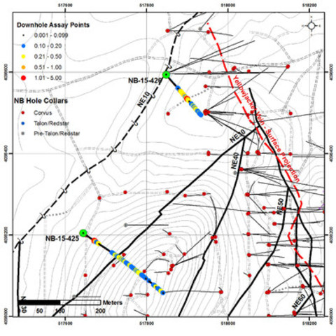Corvus Gold Intersects New Vein System in Sierra Blanca