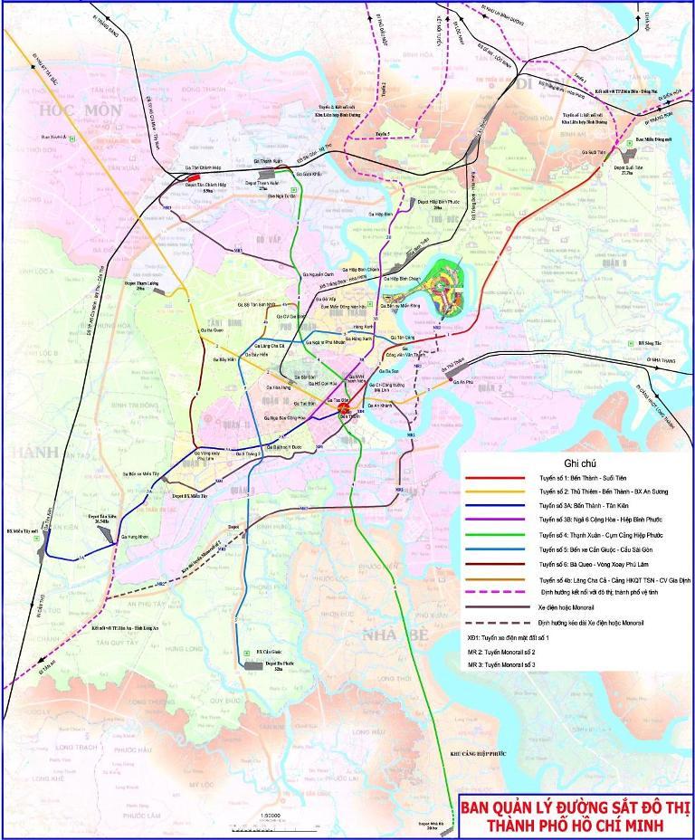 Map Of Hcmc : Updated, Future, Saigon, Metro