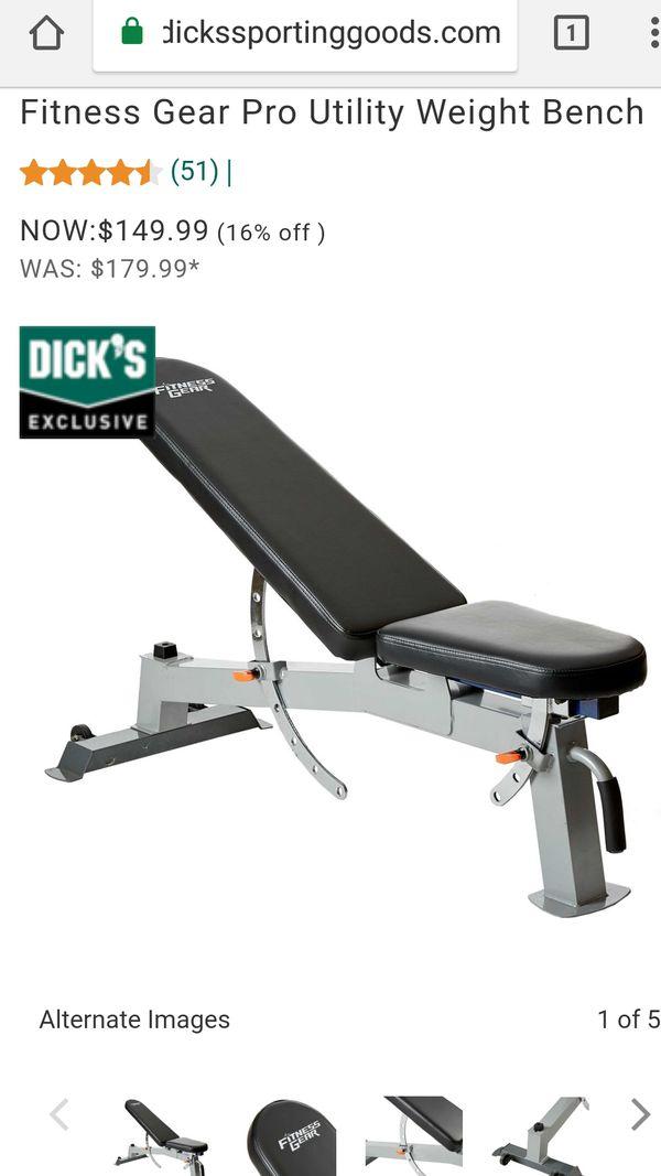 Fitness Gear Pro Ub600 : fitness, ub600, Fitness, UB/600, Utility, Bench, Upland,, OfferUp