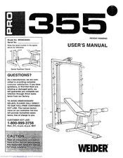 Squat Rack (Weider Pro 355) Home Gym, Smith Machine for