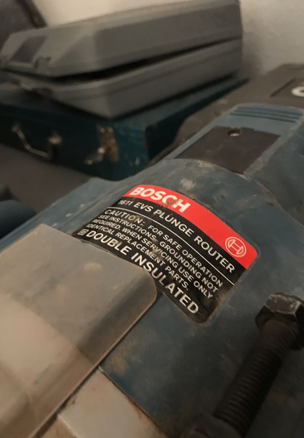 Bosch 1611 Plunge Router Manual