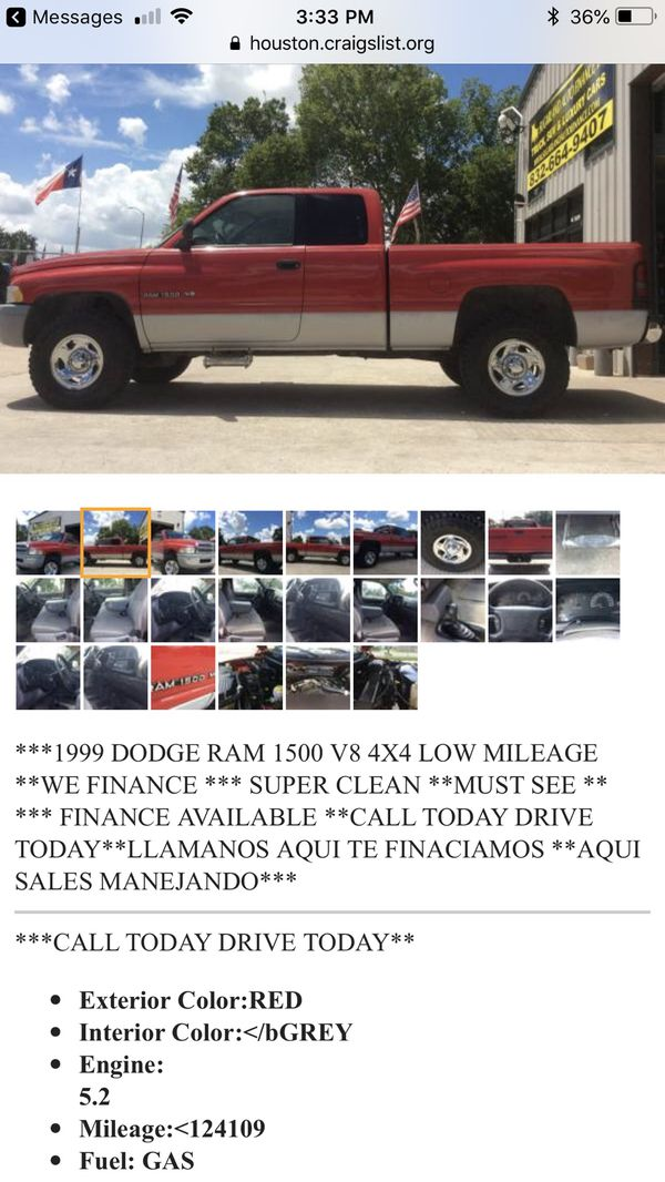 Used Dodge Ram 1500 For Sale Craigslist : dodge, craigslist, Dodge, Craigslist, Houston, Apsgeyser
