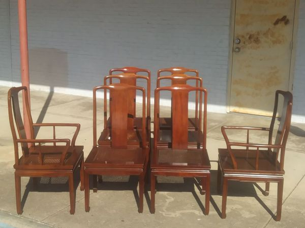henredon asian dining chairs chair gym pro set of 6 pan cane for sale in grand 1 275sold