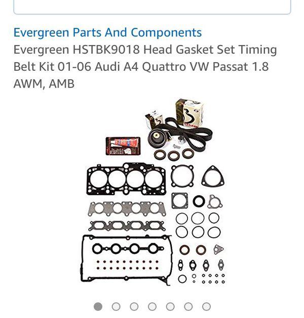 Head Gasket set Timing Belt Kit 01-06 Audi A4 Quattro VE