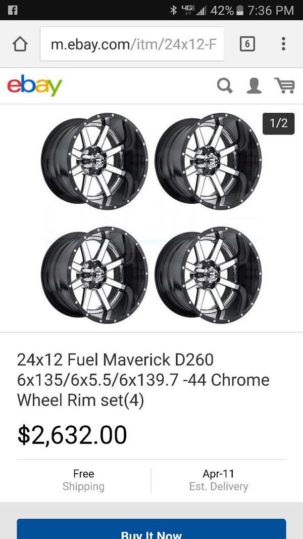 Fuel maverick 24s 24x12 35s for Sale in Escondido, CA