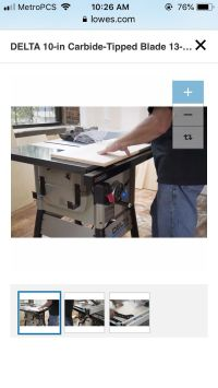 Delta table saw , $400 or best offer must pick up, need a ...