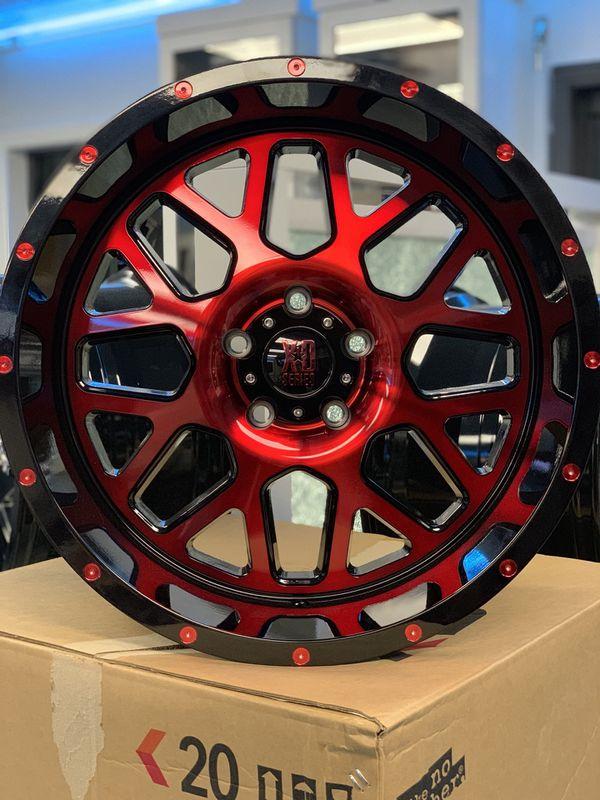 "Xd Jeep Wheels : wheels, 20"", Polished, Black, Myers,, OfferUp"