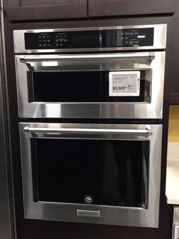 kitchenaid microwave and oven combo