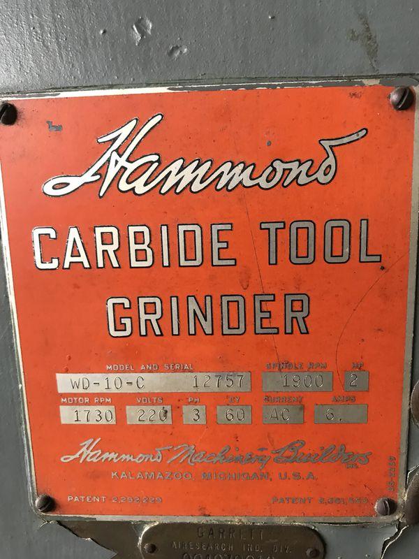 Hammond Carbide Tool Grinder