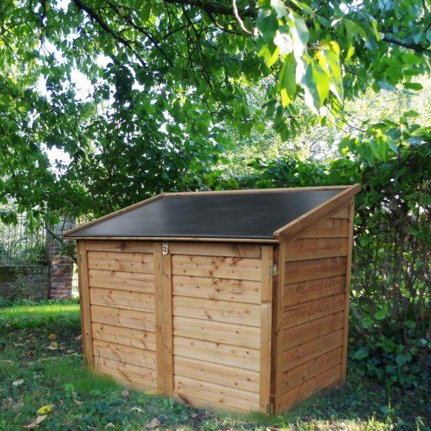Coffre de jardin bois trait Trocadro 1200L  Plantes et Jardins