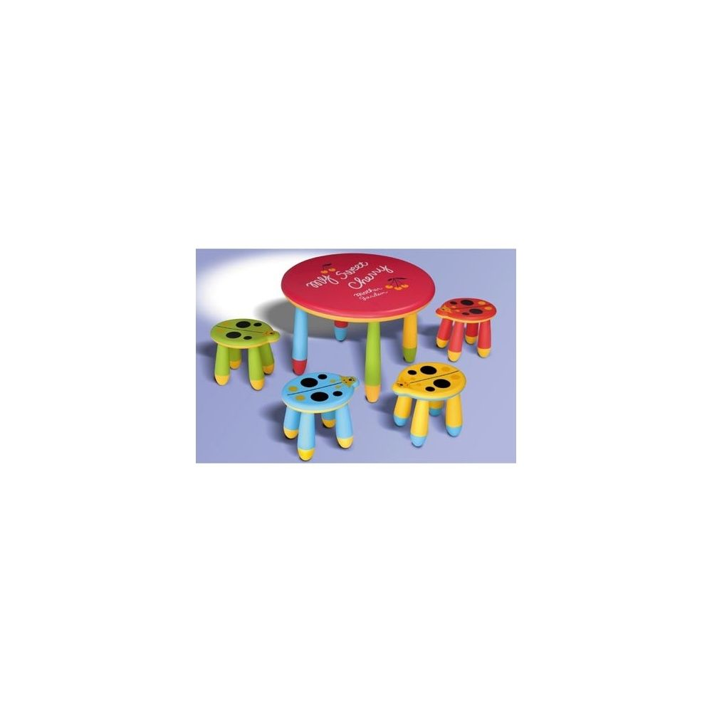 Table De Jeux Coccinelle Pour Enfants En Plastique + 4