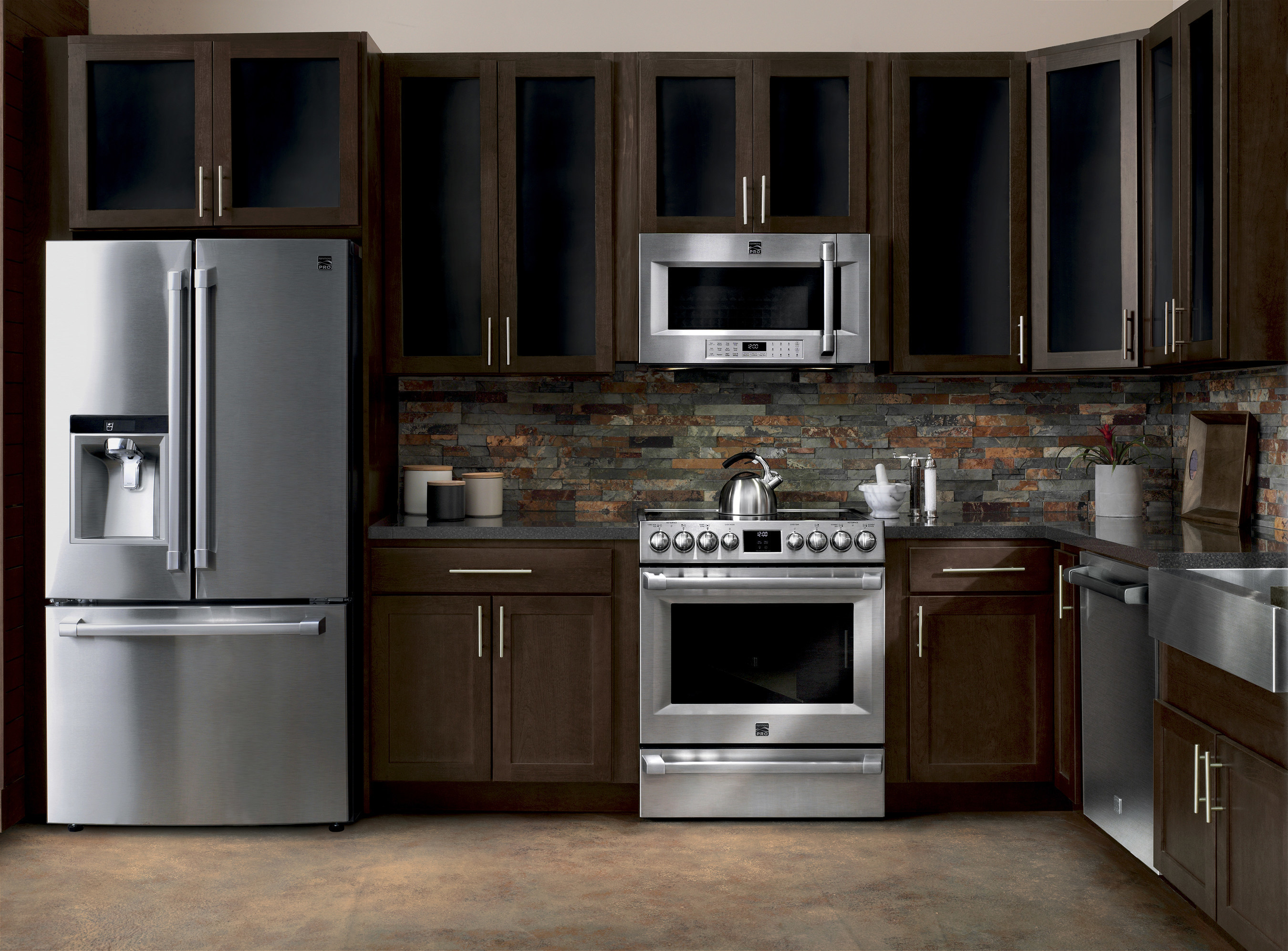 professional kitchen appliances paint colors for small kitchens new kenmore pro appliance suite delivers luxury