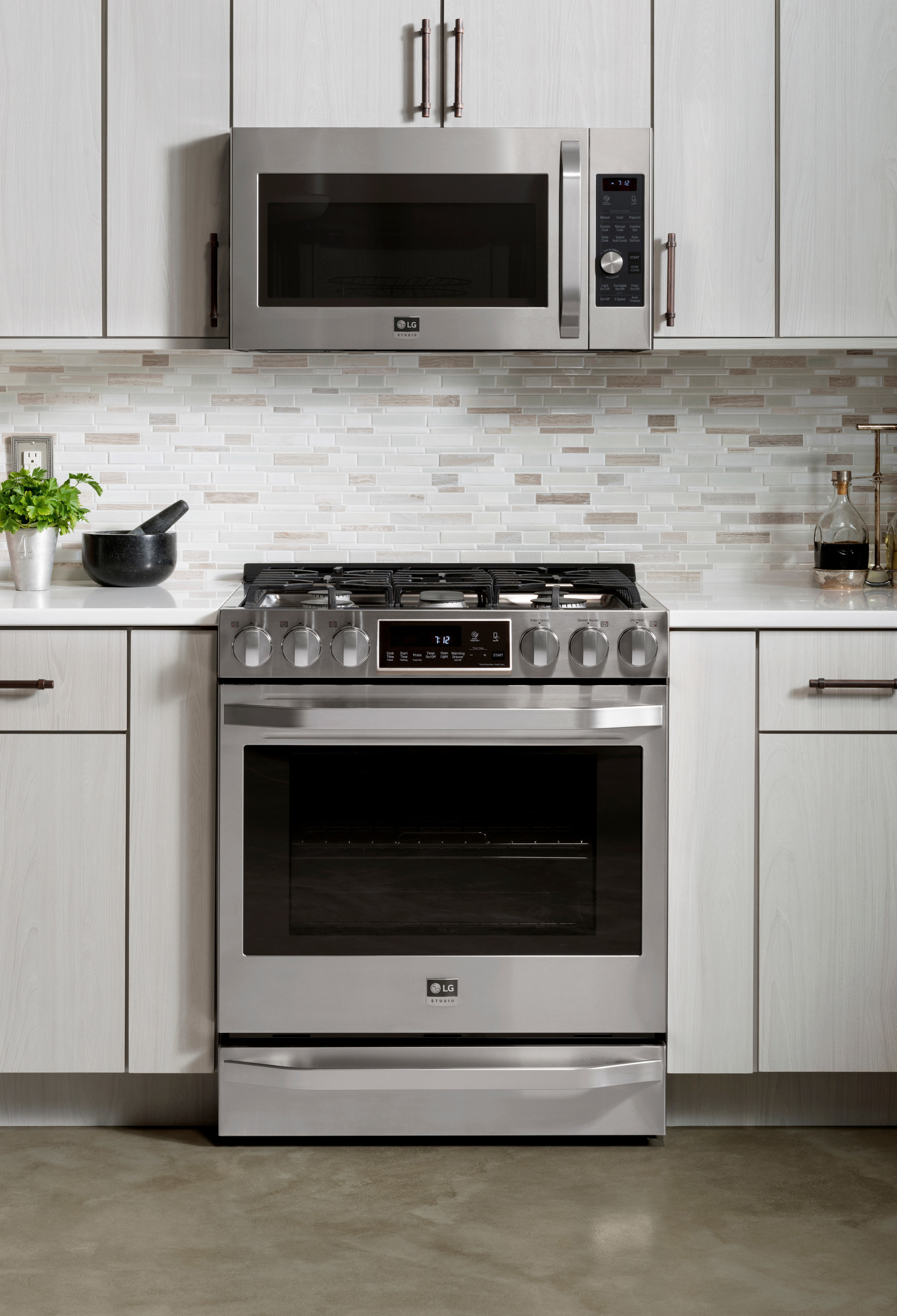 lg kitchen appliances ikea hutch electronics launches new studio line of nate berkus inspired s combine the best in innovation with a sleek