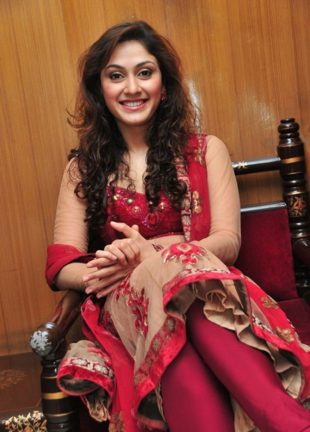 Beautiful Manjari Fidnis Red Frock HD Wallpapers