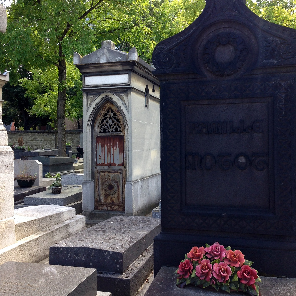 More Burial Sites at the Montparnasse Cemetery in Paris, France