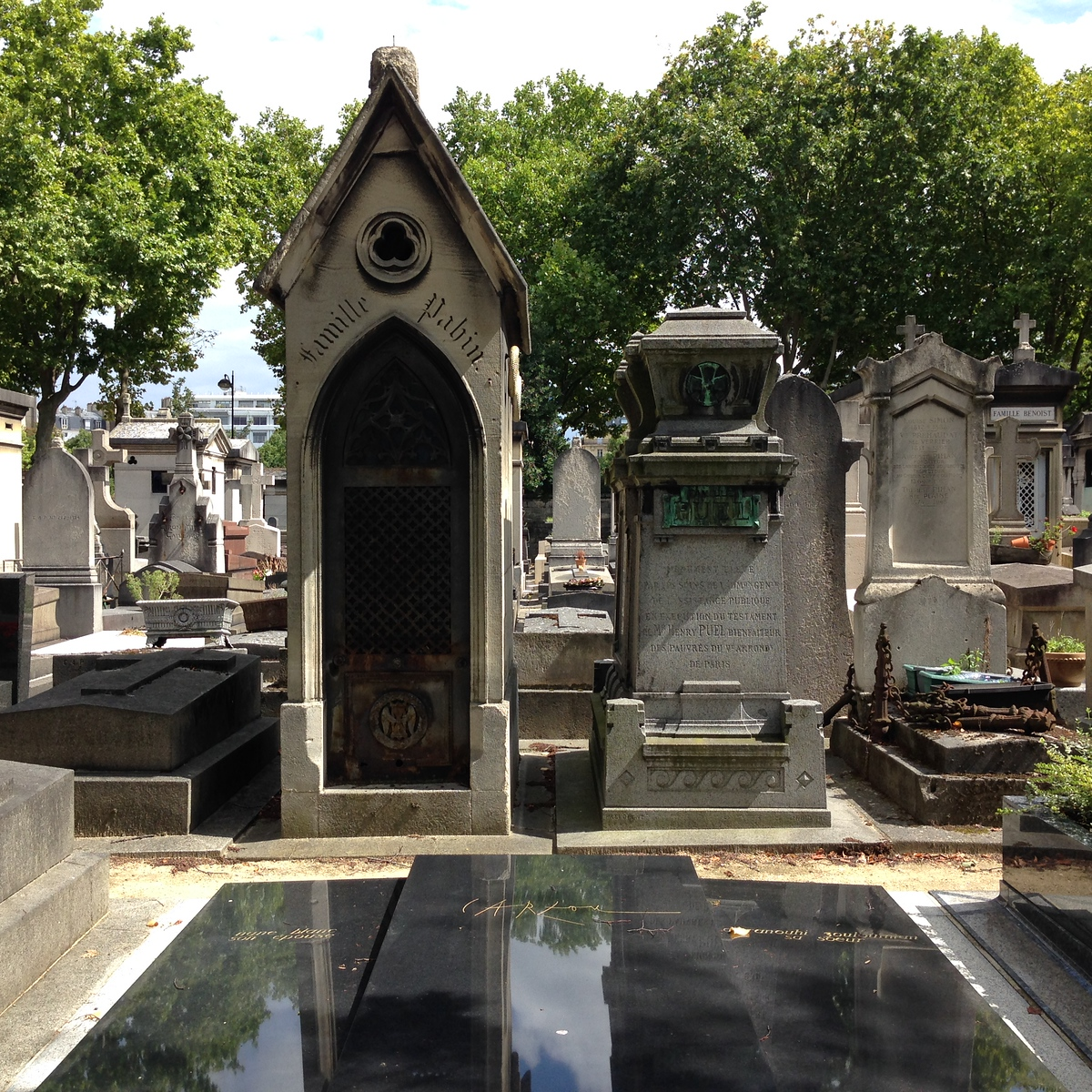 Beautiful Headstones and Vaults at the Montparnasse Cemetery in Paris, France