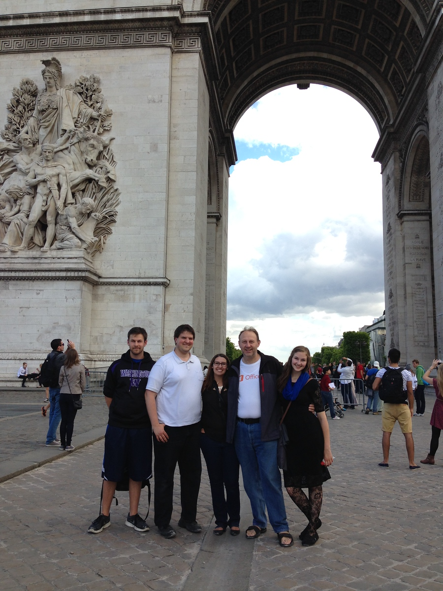 Group Photo at the Arc de Triomphe in Paris, France