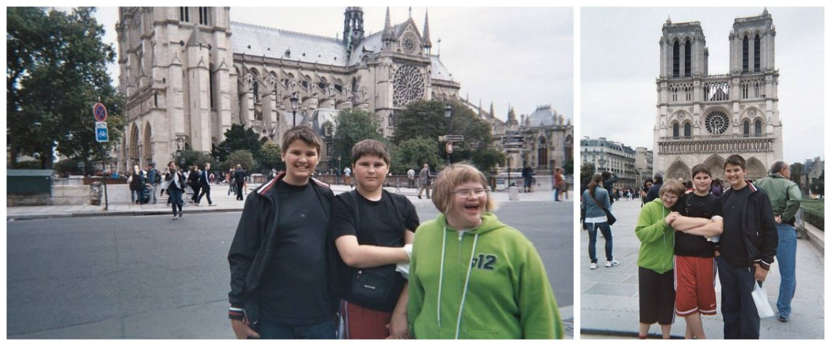 My Three Youngest Siblings in Front of Notre Dame de Paris, France