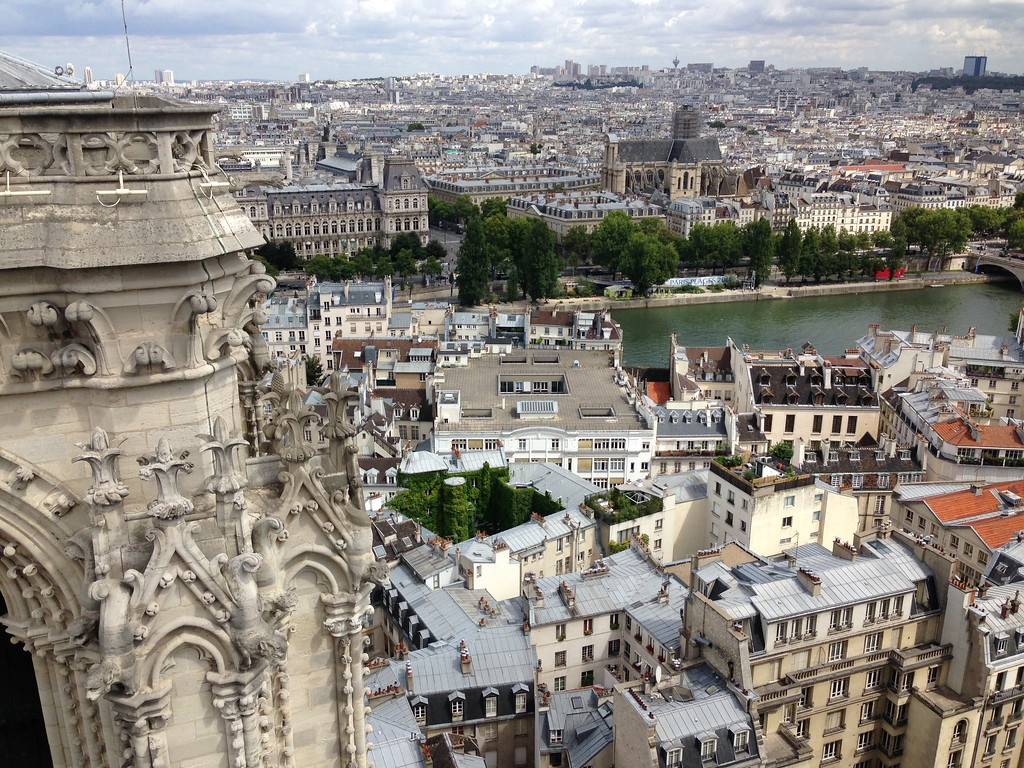 Breathtaking Views Over Paris From the Towers of Notre Dame Cathedral