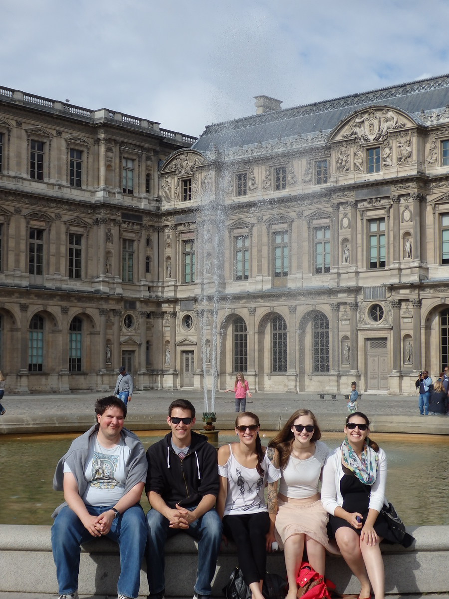 The Five Older Children at the Louvre, August 2014