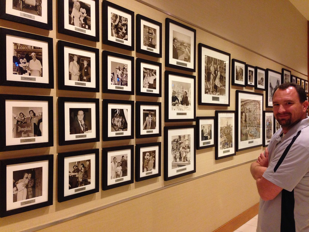 Old Photos Line the Walls of the Disneyland Hotel in Anaheim, California