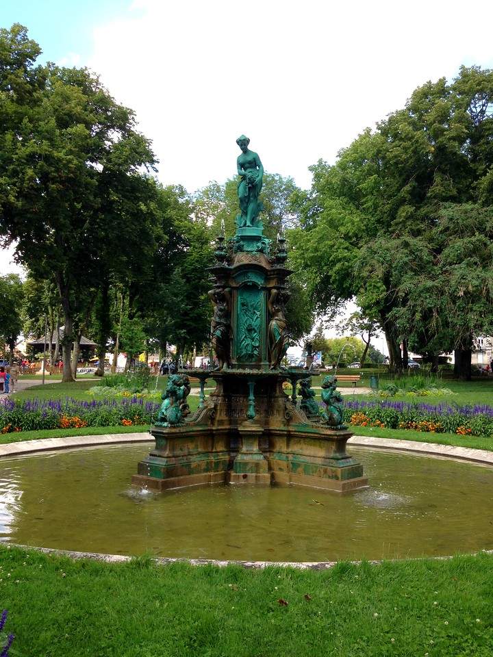 Lovely Fountain in the Park in Chaumont Centre Ville, France