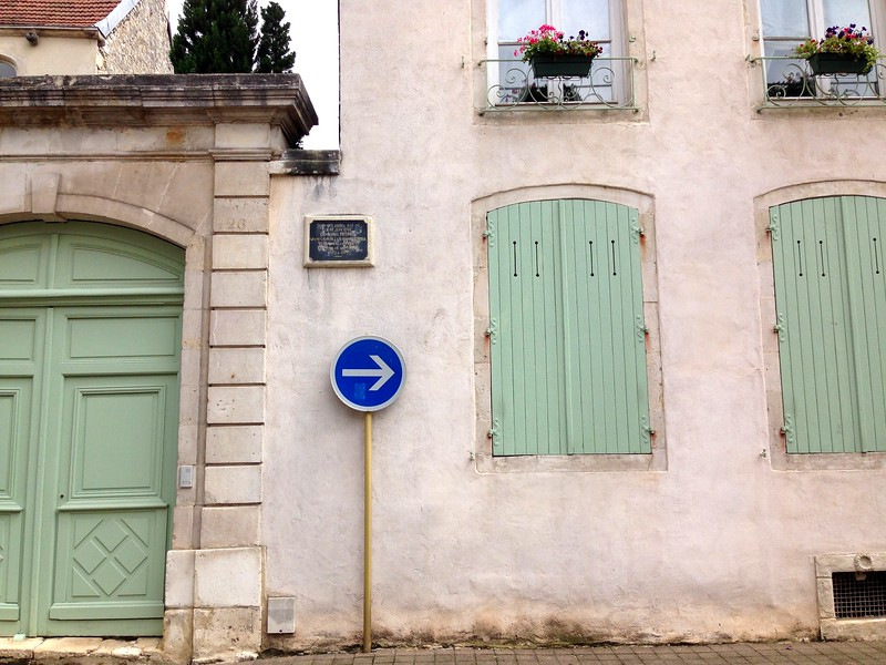 Stunning Mint Green Door and Shutters on the Downtown Streets of Chaumont, France