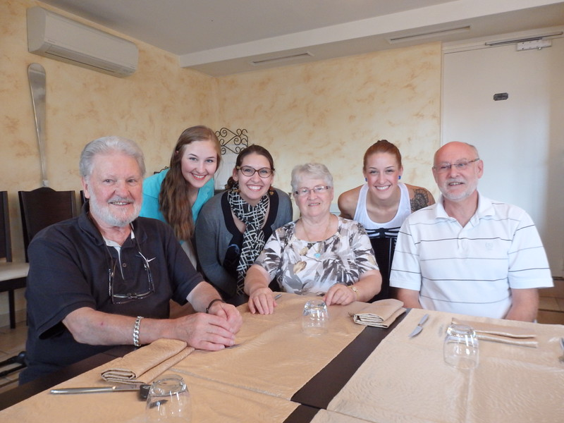 Lunch with my Grandparents at L'hôtel restaurant La Vallée in France
