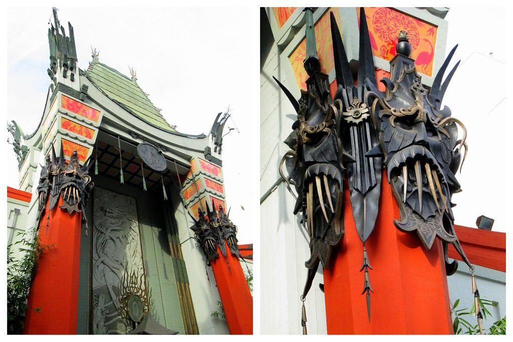 The Colorful and Intricate Exterior of Grauman's Chinese Theater on the Walk of Fame