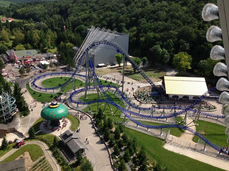 Alpina Blitz Roller Coaster at France's Parc Nigloland